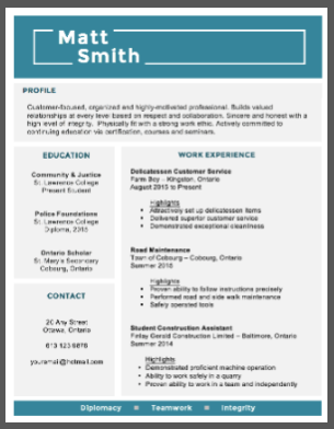 example resumes - Examples Or Resumes